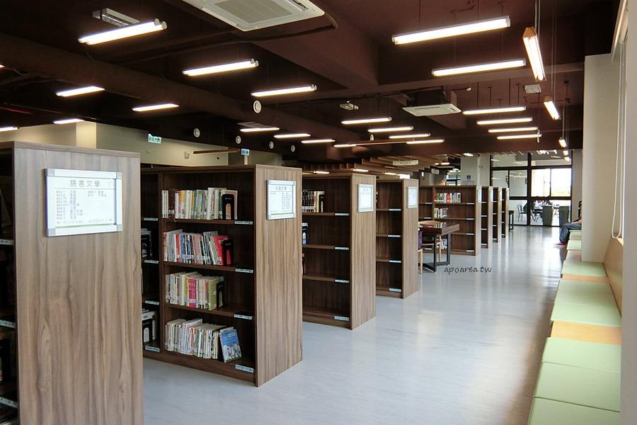 20180416082414 65 - 圖書館溪西分館│全台唯一可在館內看到高鐵奔馳的圖書館,綠能建築鄰溪望林,屋頂外觀像是一本攤開的書