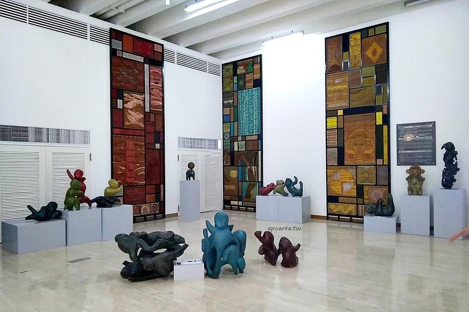 猴子軍團來襲 獼猴雕塑可愛討喜 免費展覽 廖飛雄雕塑個展 豐原葫蘆墩文化中心
