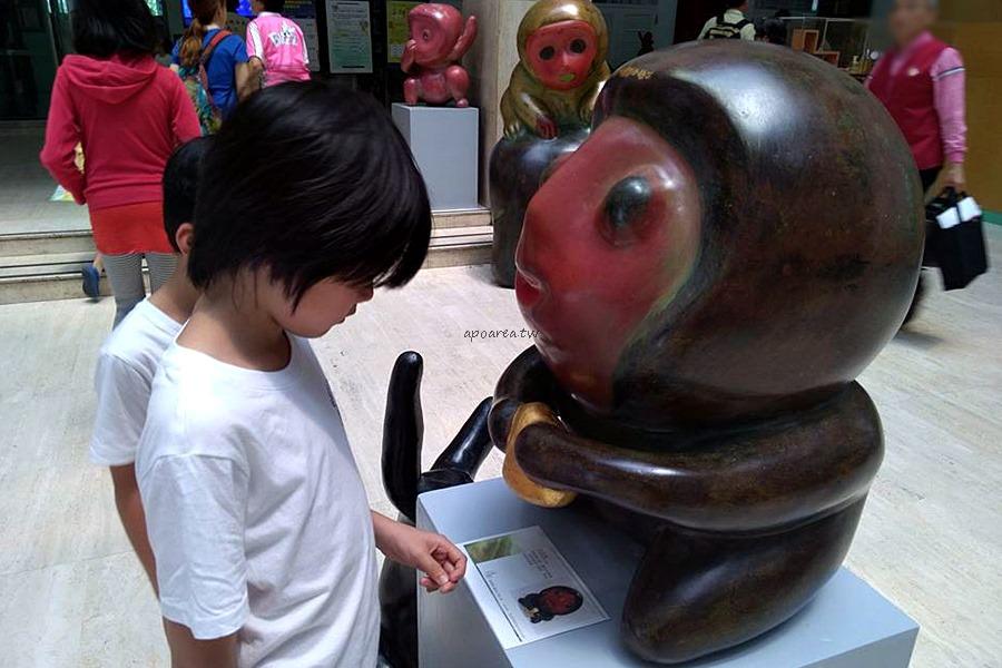 20180416111607 87 - 假日來賞猴 獼猴雕塑展可愛討喜 免費參觀 廖飛雄雕塑個展 豐原葫蘆墩文化中心