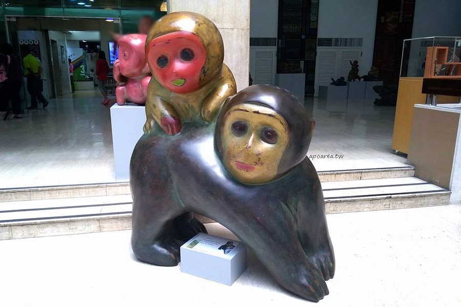 20180416111628 67 - 假日來賞猴 獼猴雕塑展可愛討喜 免費參觀 廖飛雄雕塑個展 豐原葫蘆墩文化中心