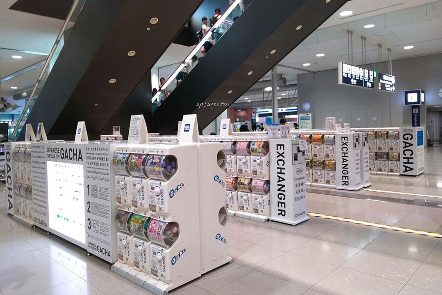 關西機場扭蛋區|第一航廈二樓 百台玩具扭蛋區 戽斗星球及多款人氣經典收藏
