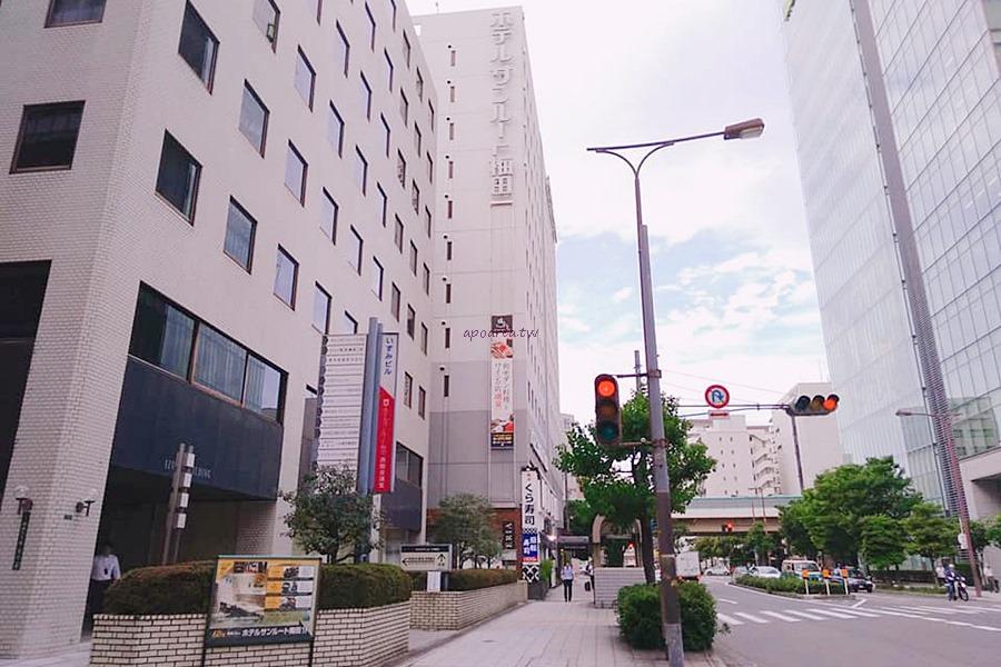 梅田燦路都大飯店|近地鐵百貨購物方便 無添くら寿司旁 日本親子旅遊住宿 Hotel Sunroute Umeda