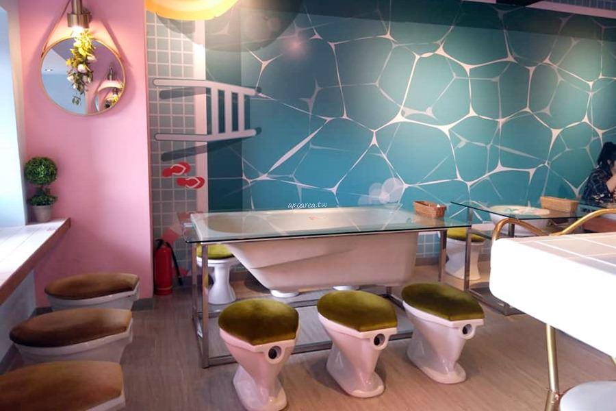 20180805114327 97 - 便所主題餐廳小澡堂|粉嫩廁所裡用餐 平日商午159元起 超夯馬桶造型冰 一中商圈