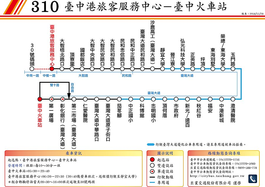 20190109090517 46 - 如何從台中火車站搭公車到台中三井outlet 臺中市公車十公里免費 310 308 306 307皆可到達