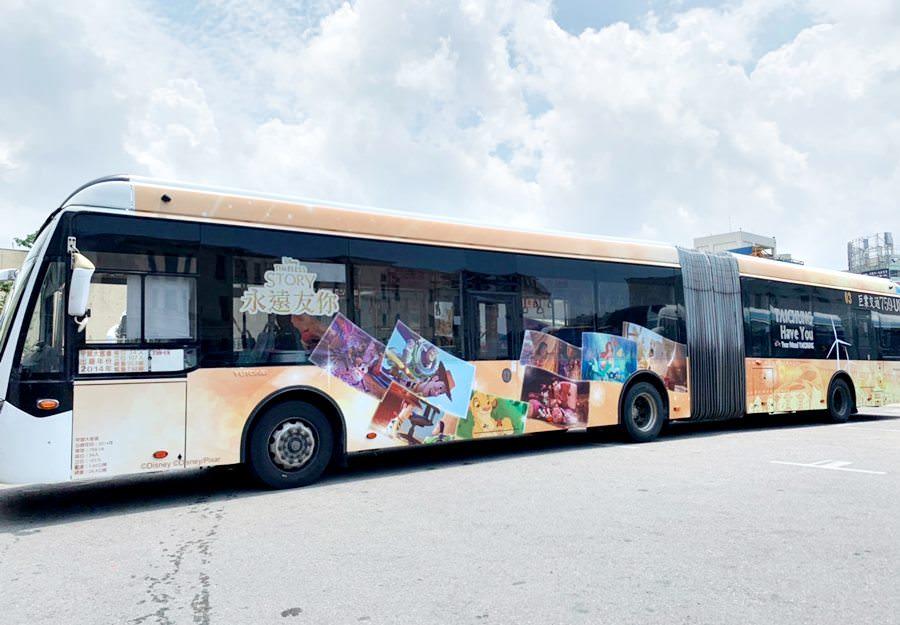 20190818090647 55 - 全國首輛迪士尼主題彩繪雙節公車在台中 8/24還有拍照打卡快閃活動
