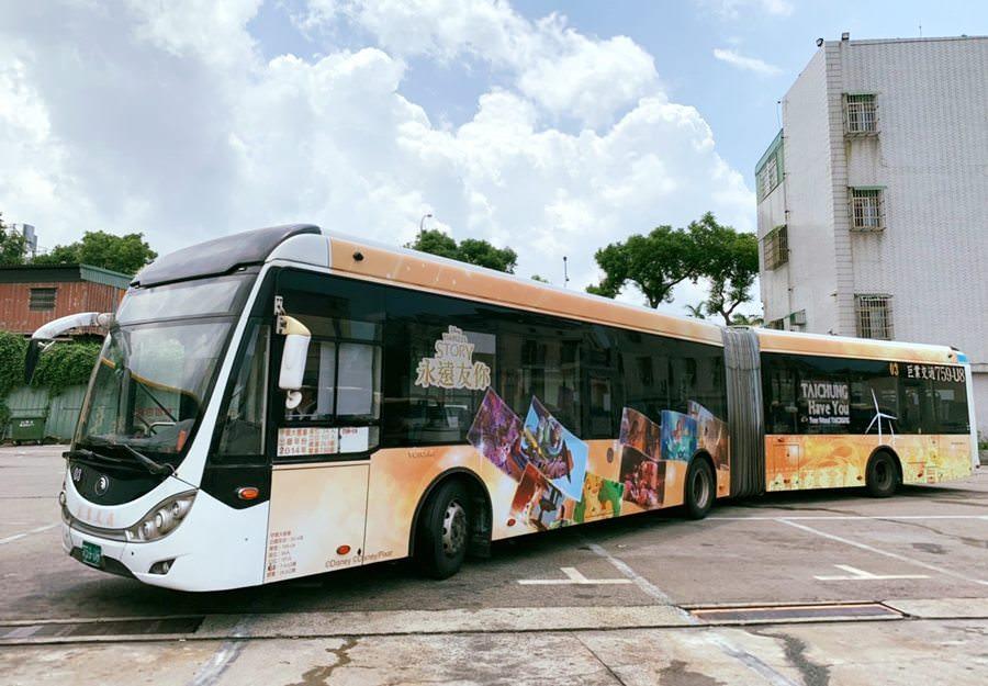 20190818091703 39 - 全國首輛迪士尼主題彩繪雙節公車在台中 8/24還有拍照打卡快閃活動